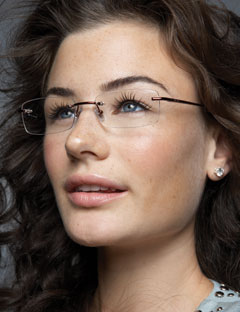 Rimless Glasses Makeup : Flirty looks, plus makeup for girls with glasses!