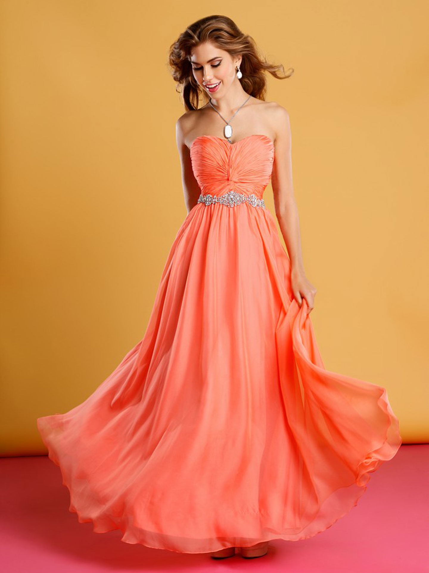 Yellow And Orange Prom Dresses 99