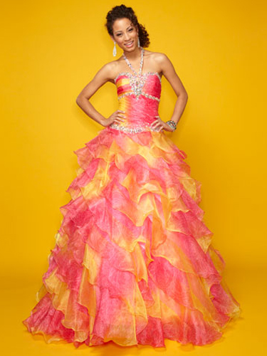 Pink And Yellow Wedding Dresses : Pink quinceanera dresses best quince