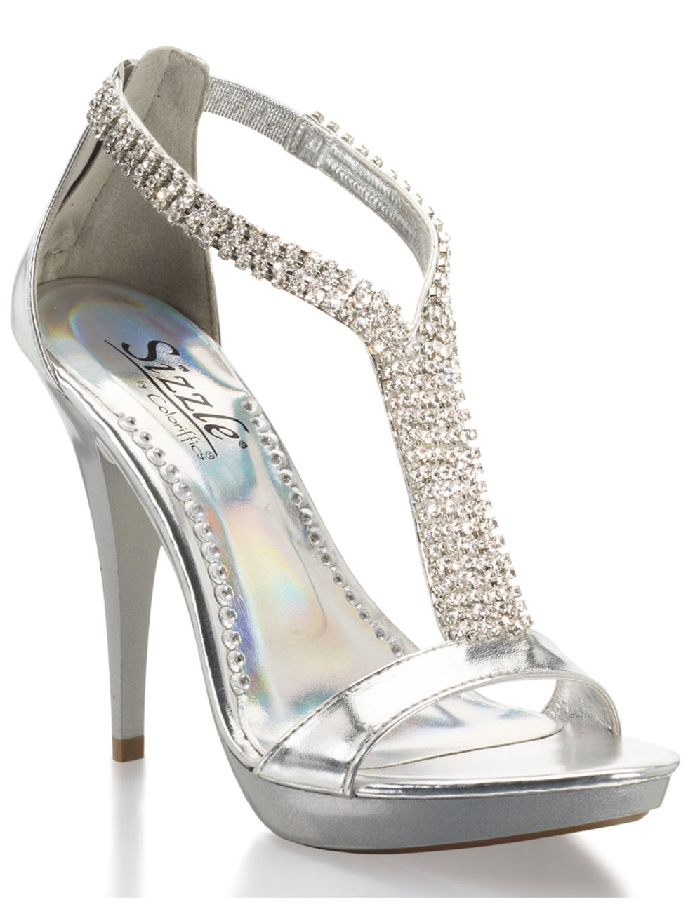 Silver  Inch Wedding Shoes