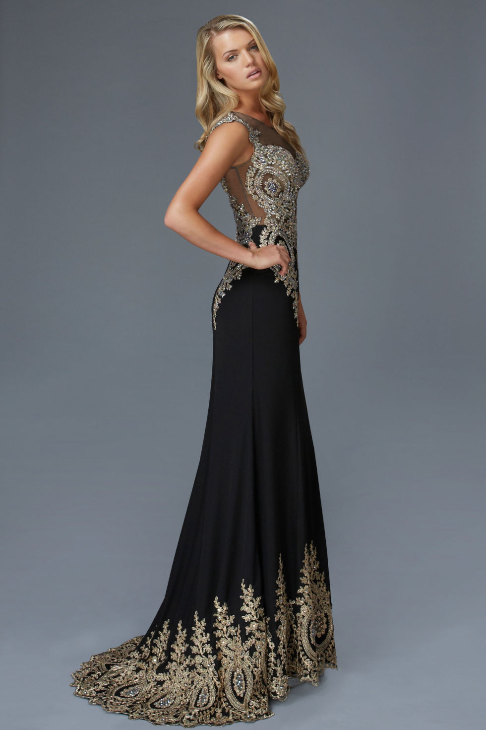 Black And Gold Prom Dress - Colorful Dress Images of Archive