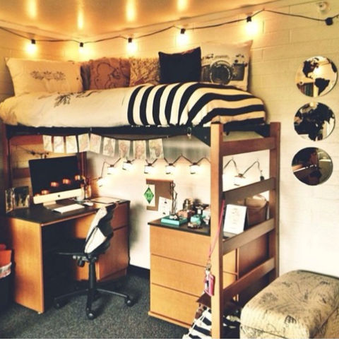 college student organization solution: lofted beds