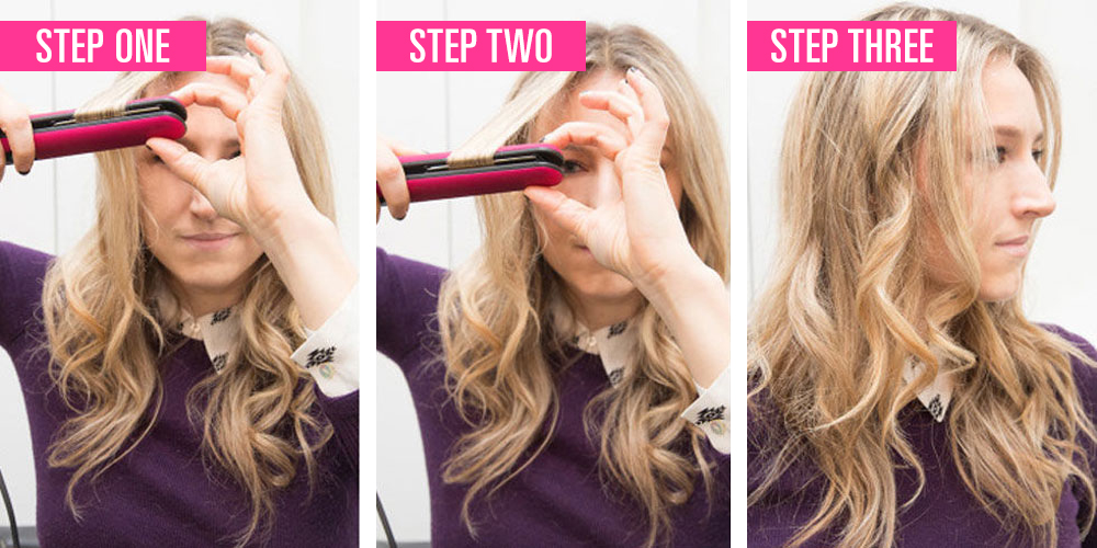 ways to style hair with a straightener the right way to use a flat iron to curl your hair 4930