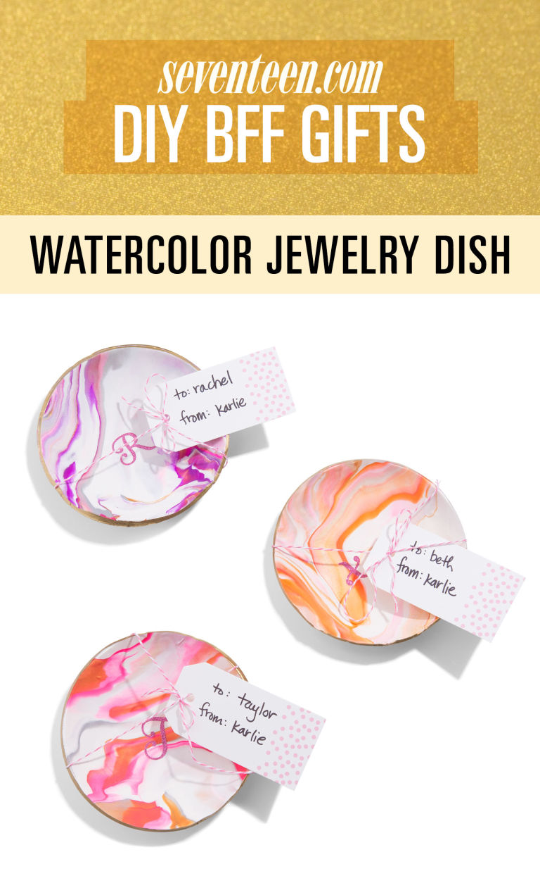 watercolor jewelry dish