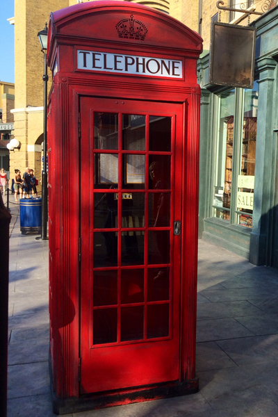 Image result for phone booth outside Kings Cross Station universal orlando